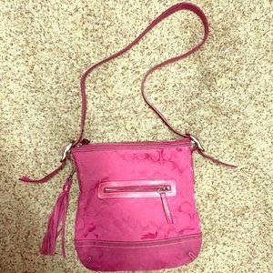 COACH signature messenger bag - pink